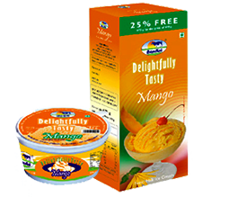 Ice Cream Delightfully Tasty Mango